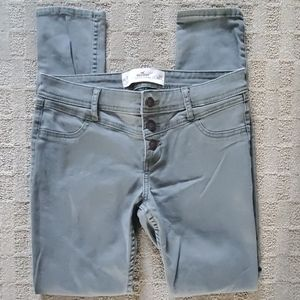 Hollister green skinny pants